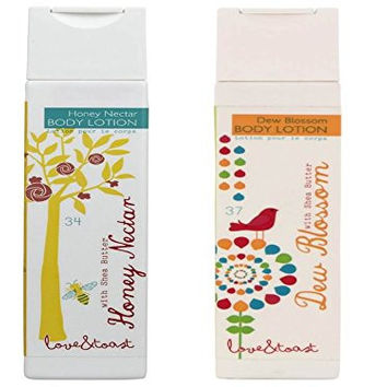 Honey Nectar Body Lotion and Dew Blossom Body Lotion, 6.7 Ounces Each, 2 Pack