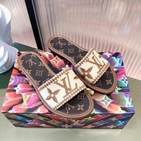 LV Autumn and winter wool slippers