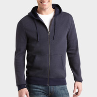 PRONTO BLUE MODERN FIT FULL-ZIP HOODY, NAVY, AND GRAY STRIPE
