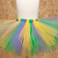 Sewn Mardi Gras Tutu Made to order 8 inch by charlotteandclaire