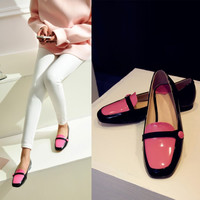 Flat Square Toe Shoes [4920624068]