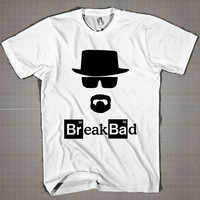Breaking Bad -Walter White Hat Heisenberg  Mens and Women T-Shirt Available Color Black And White