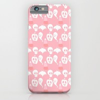 Pink Adorable Halloween Pattern iPhone & iPod Case by Adorkible