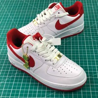 Nike Air Force 1 Low Af1 White Red Sport Shoes Commemorate Kawhi Leonard - Best Online Sale