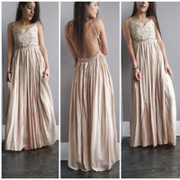 A Gorgeous Crochet Maxi in Beige