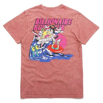 Space Wave SS Knit T-Shirt Wild Rose