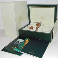 Rolex Womens Datejust Gold/Steel Automatic Watch Diamonds Box/Papers 179313