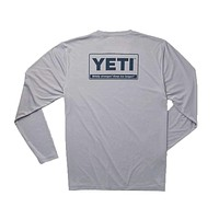 Billboard Logo Long Sleeve Sun Shirt in Gray by YETI