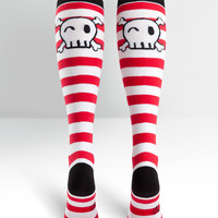 Skully Knee High Socks