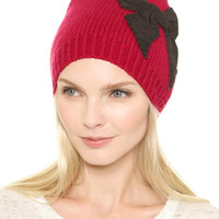 Knitted Beanie with Bow