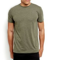 Khaki Basic Crew Neck T-Shirt