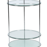 Side Table / Cart Frosted Glass