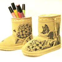 """Bearpaw """"Color Me"""" boots for kids - hand painted boots toddler kid size 12"""