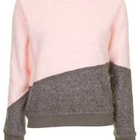 Panel Smash Sweater by Story of Lola - Grey