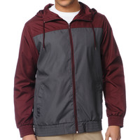 Zine Harvey Burgundy & Charcoal Windbreaker