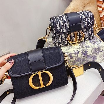 Dior Montaigne new embroidered knitted canvas messenger bag fashion ladies one-shoulder messenger bag