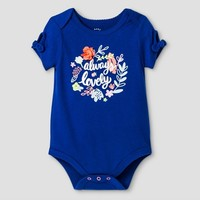 Baby Girls' Always Lovely Bodysuit - Cat & Jack Bodysuit™ Blue : Target