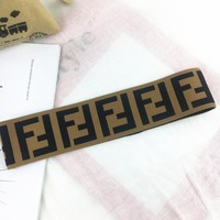 Fendi Fashion New More Letter Print Women Men Sports Headband Brown
