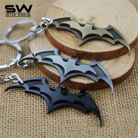 STARWORLD 3 Colors Classic Batman Key Chain Metal Zinc Alloy Batman pendant Decoration Keychain Key Ring Souvenir Chaveiro