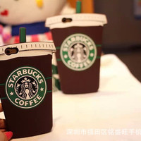 Silicone Phone Starbucks Coffee Cup Apple Mobile Phone case Iphone5 5S  Iphone6 6S Iphone6 Plus Case