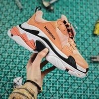 Balenciaga Triple S Orange Sneaker - Best Online Sale