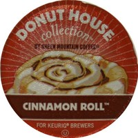 Donut House Collection Coffee, Cinnamon Roll, K-Cup Portion Count for Keurig K-Cup Brewers, 24-Count