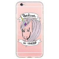Rainbow Unicorn Believe in Yourself Case for iPhone