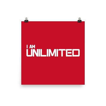 """I AM UNLIMITED""  Positive Motivational & Inspiring Quoted Premium Luster Photo paper poster"