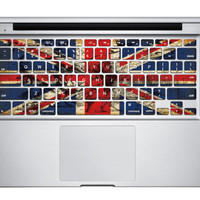 Colorful  Uk Flag  Royal Flag keyboard sticker  Macbook Pro Decal Macbook Air Decals Apple Macbook Decal Apple Sticker for macbook Air
