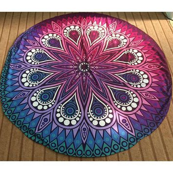 CREYU3C 9 Style Hot Hippie Round Mandala Tapestry Indian Wall Hanging Beach Throw Towel Yoga Mat Blanket Tablecloth Bed Sheet Home Decor