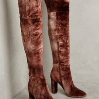 Ombre Velvet Over-The-Knee Boots