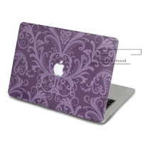 Purple pattern Decal for Macbook Pro, Air or Ipad Stickers Macbook Decals Apple Decal for Macbook Pro / Macbook Air JQ-007