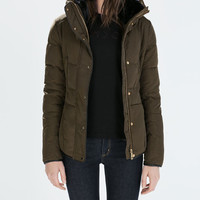 Fitted short anorak