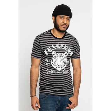Horizontal Striped Fearless Tiger T-Shirt