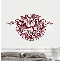 Vinyl Wall Decal Lotus Yoga Spa Center Bedroom Design Stickers Unique Gift (750ig)