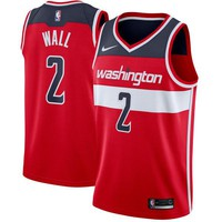 John Wall Washington Wizards # 2 Nike Red Swingman Icon Edition Jersey - Best Deal Online