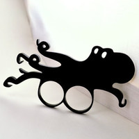 Octopus Double Ring Brass Knuckles - Laser Cut Acrylic
