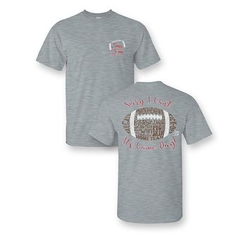 Sassy Frass Sorry I Can't it's Gameday Football Words Girlie Bright T Shirt