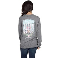 Sweet Defense Long Sleeve Tee in Dark Heather Grey by Lauren James