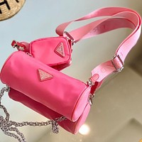 Prada pillow bag new shoulder bag multicolor Optional Pink