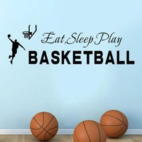 ESBYN5 wall stickers for kids rooms Sleep Play Basketball Quotes Wall Sticker Decal Home Boys Room Decoration