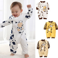 NEW Cow Newborn Girls Boys Cotton Clothes Baby Outfit Infant Romper Clothes = 1930290180