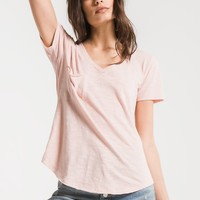 The Airy Pocket Tee in Peachskin