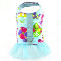 Beach Print Dog Vest Harness with Ruffle XSmall - CLOSEOUT!