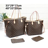 LV Louis Vuitton Hot sale two-piece full-printed letter two-piece handbag shoulder bag messenger bag