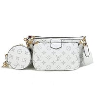 LV Louis Vuitton Women's Multi-purpose All-match Mahjong Bag Three-piece Set