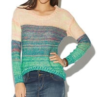 Marled Stripe High-Low Pullover Sweater | Wet Seal