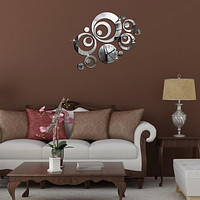 Wall Stickers Clock 23pcs/Set 3 Colors Mirror Surface Living Room