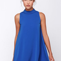 JOA Skies Above Blue Swing Dress