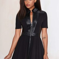 Nasty Gal Live Fast Fit-and-Flare Dress